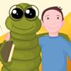Un vierme verde într-o poveste