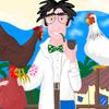 Jackie Pouffinek et les poules