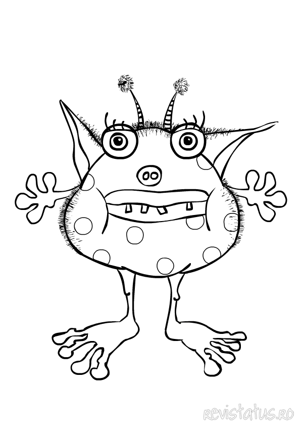 cute monster coloring pages - photo#17