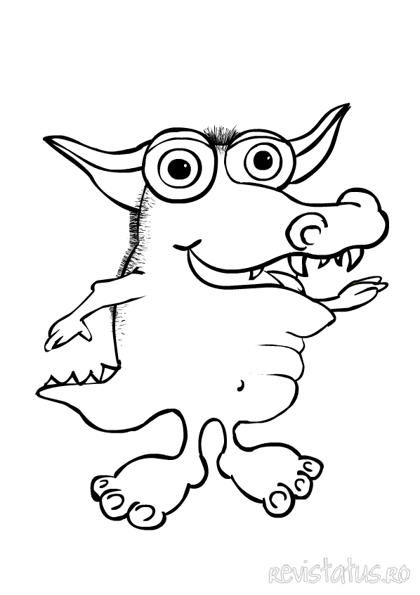 cute monster coloring pages - photo#10